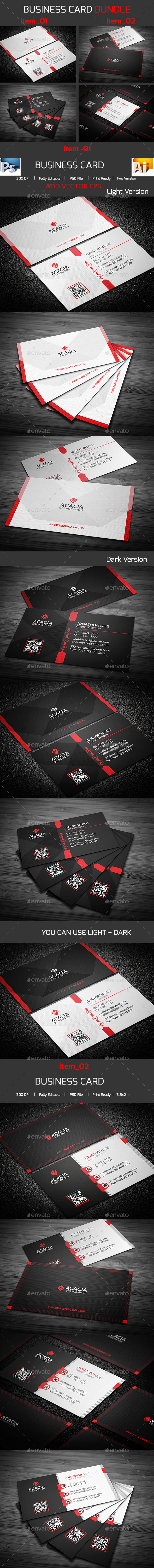 Bundle- 2 in 1 Business Card_06 - Corporate Business Cards