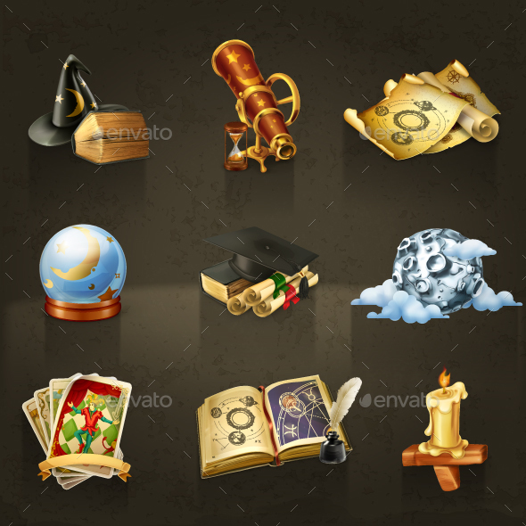 Astrology Vector Icons - Decorative Vectors