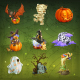 Happy Halloween Icons - GraphicRiver Item for Sale