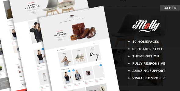 Molly – Elegant & Clean PSD Template