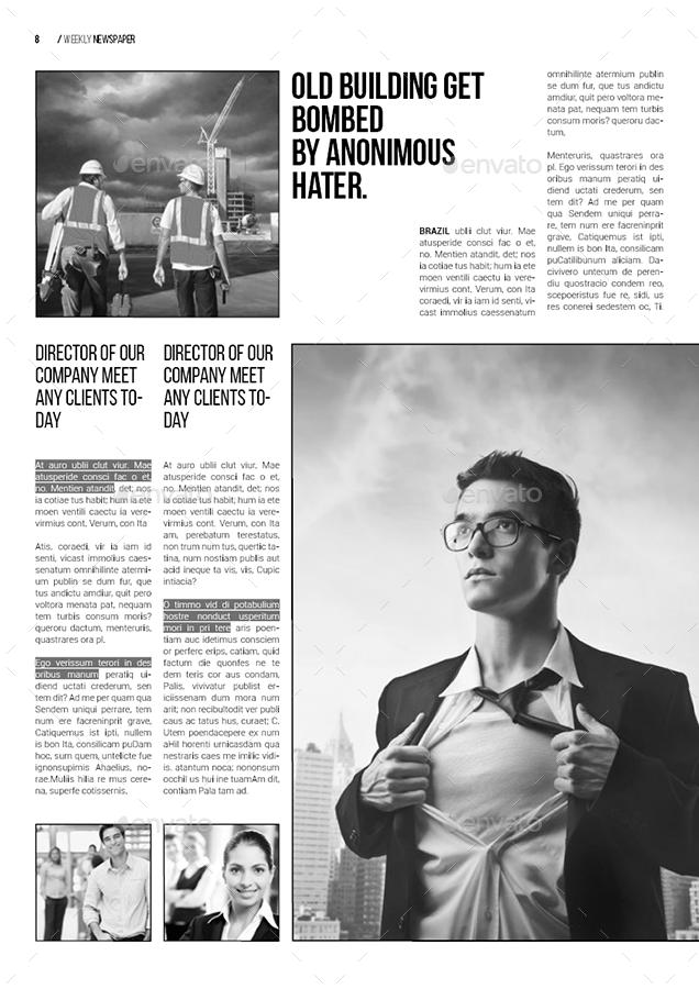 A3 Newspaper Template Tachrisaniemiec