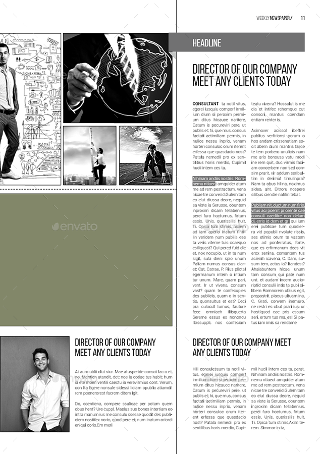 A3 Newspaper Template By Spidergraph Graphicriver