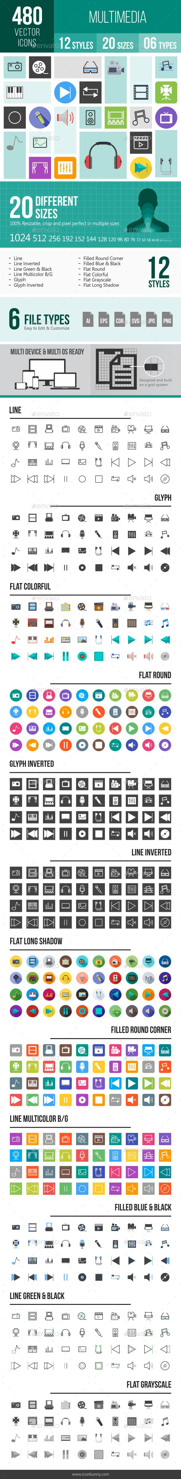 Multimedia Icons - Icons
