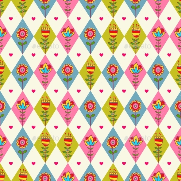 Rhombus Seamless Pattern. - Backgrounds Decorative