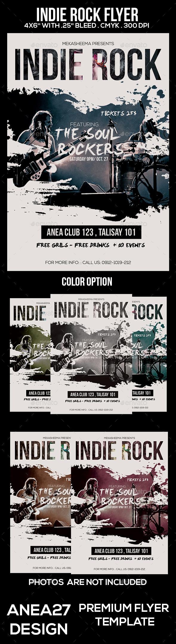 Indie Rock Flyer - Events Flyers