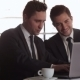 Businessman Using Laptop At Lunchtime - VideoHive Item for Sale