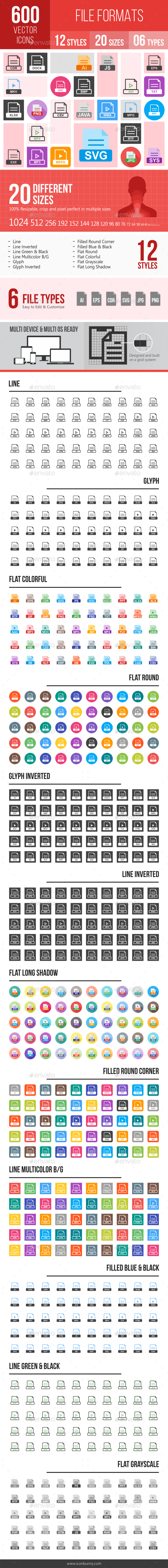 File Formats Icons - Icons