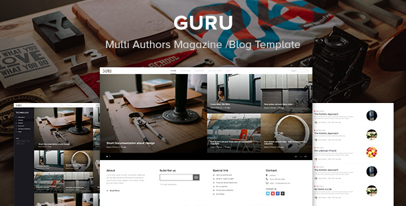 Guru – Multi Authors Magazine/Blog Template