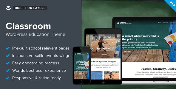 Classroom - Responsive WordPress School Theme - Education WordPress