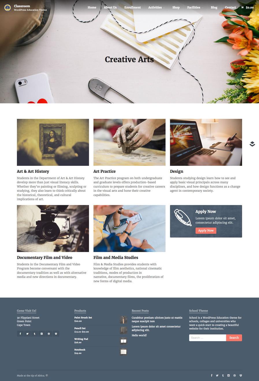 Responsive Classroom Design ~ Classroom responsive wordpress school theme by obox