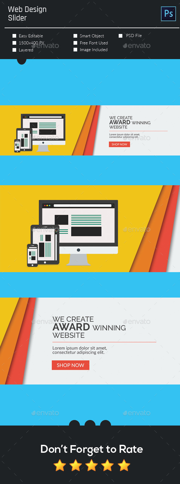 Web Design Slider  - Sliders & Features Web Elements