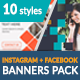 Facebook + Instagram Banners Pack-1 - GraphicRiver Item for Sale