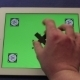 Man Hands Touch Gestures With Tablet Green Screen  - VideoHive Item for Sale