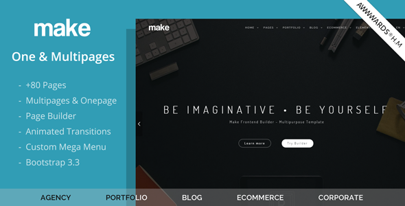 Make - Multipurpose One/Multipage Joomla Template