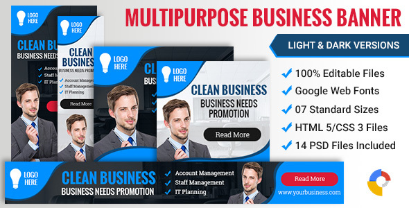 Web Design Business Banner 005 - 2 Variations  - CodeCanyon Item for Sale
