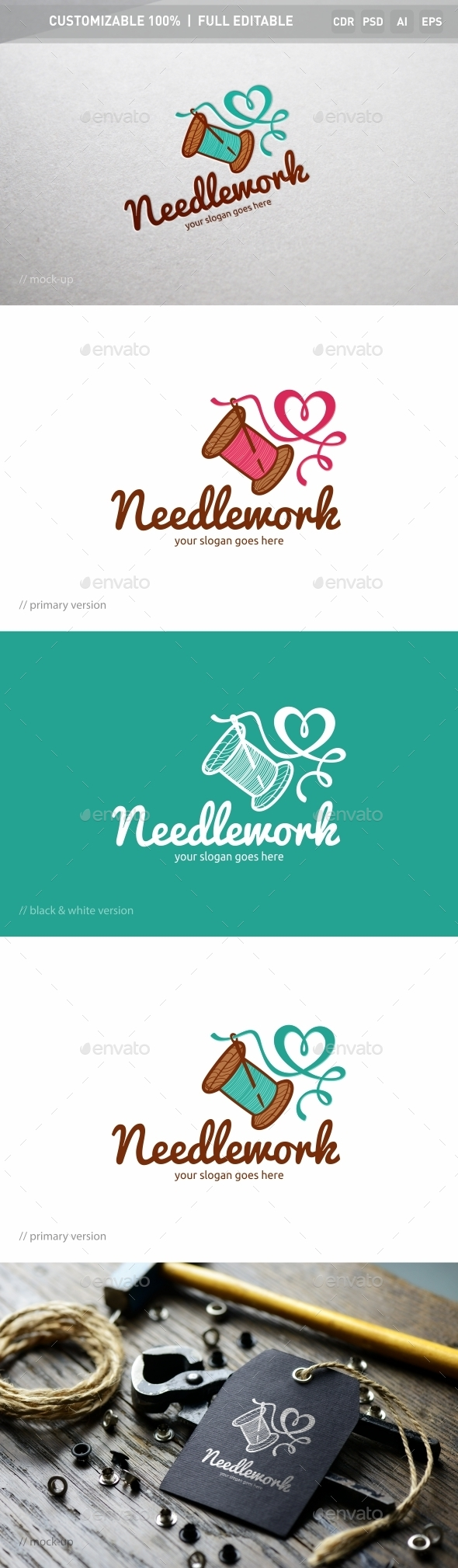 Needlework Logo Template - Objects Logo Templates