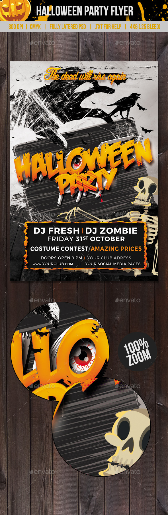 Dead Will Rise Halloween Flyer - Clubs & Parties Events