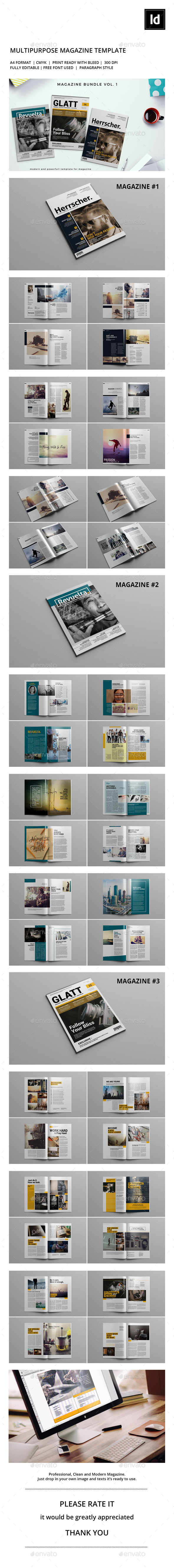 Magazine Bundle V.1 - Magazines Print Templates