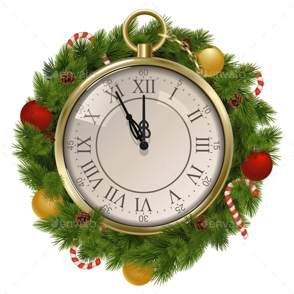 New Year Concept with Clock - New Year Seasons/Holidays