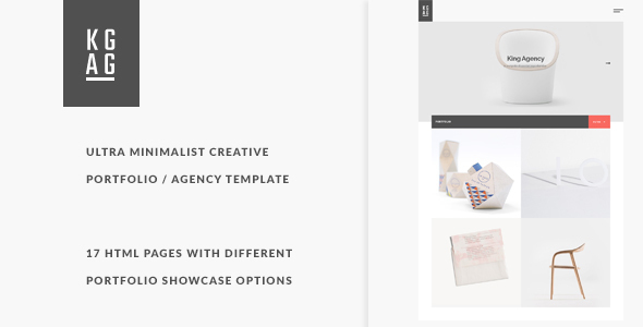 King Agency - Ultra minimalist creative portfolio
