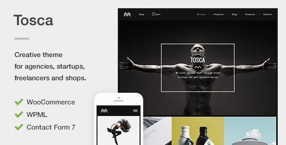 Tosca – A Fresh Creative Portfolio & Ecommerce WordPress Theme