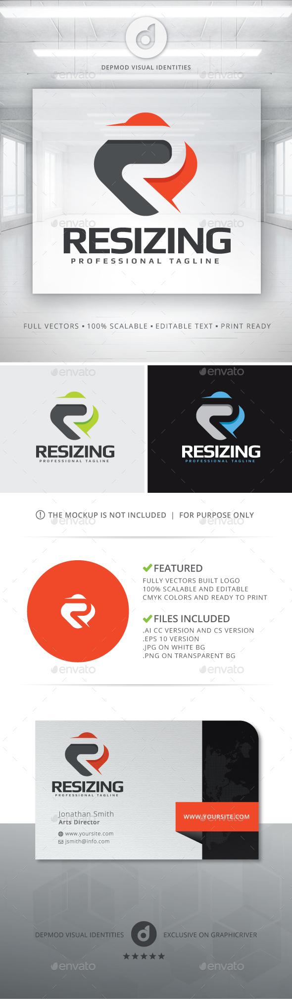 Resizing Logo - Letters Logo Templates