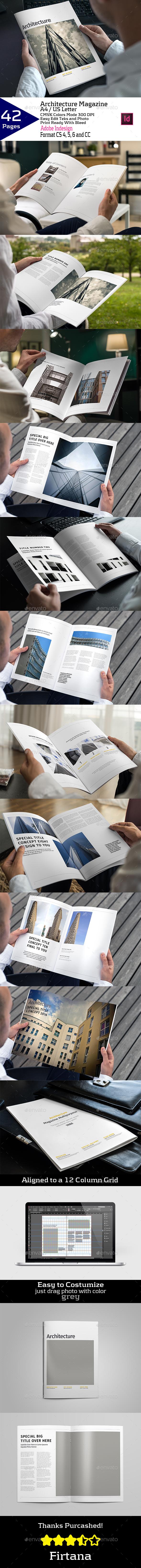 Architecture Magazine A4/US Letter - Magazines Print Templates
