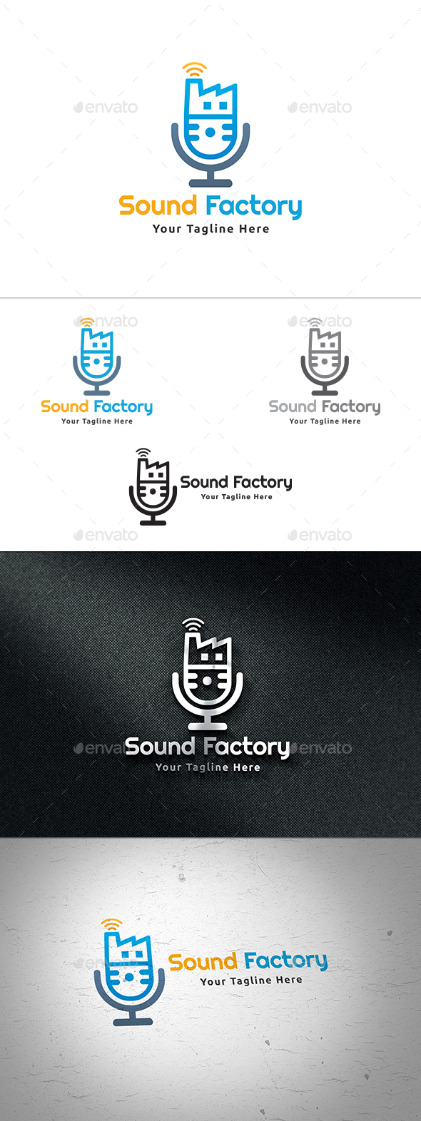 Sound Factory Logo - Symbols Logo Templates