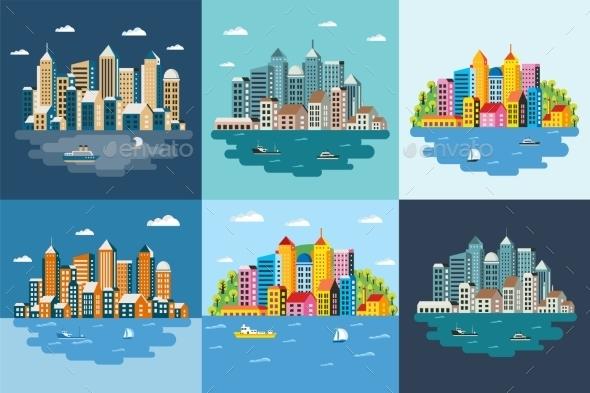 Megapolis Landscape - Buildings Objects