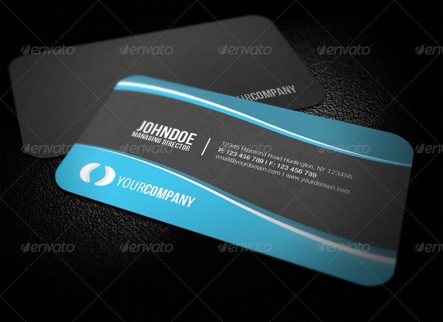 Sleek Rounded Corner Business Card by glenngoh | GraphicRiver