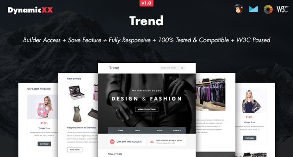 Trend - Responsive Email + Online Template Builder - Email Templates Marketing