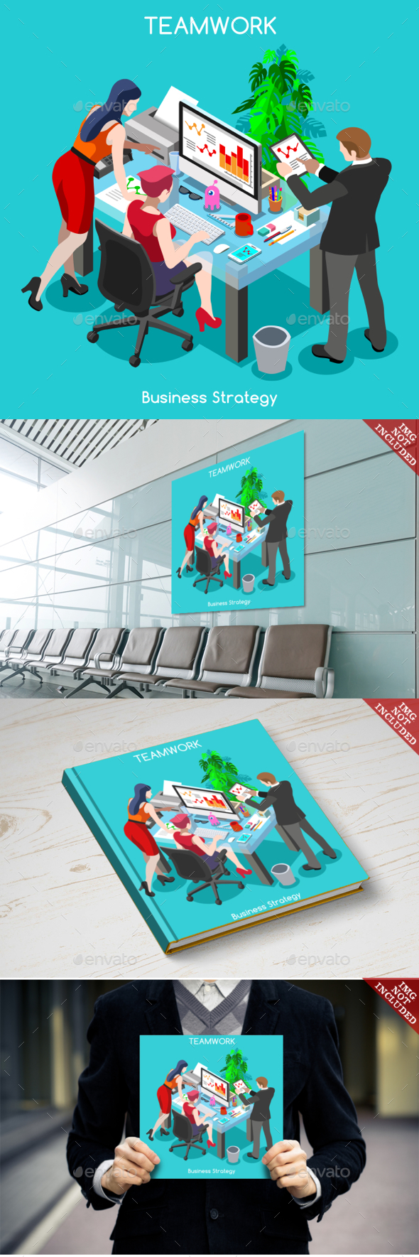 Business People Isometric - Concepts Business