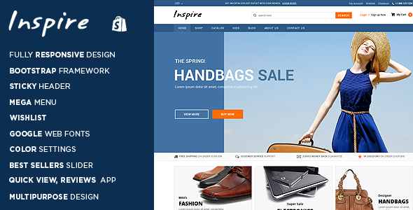 Inspire - Responsive Shopify Theme