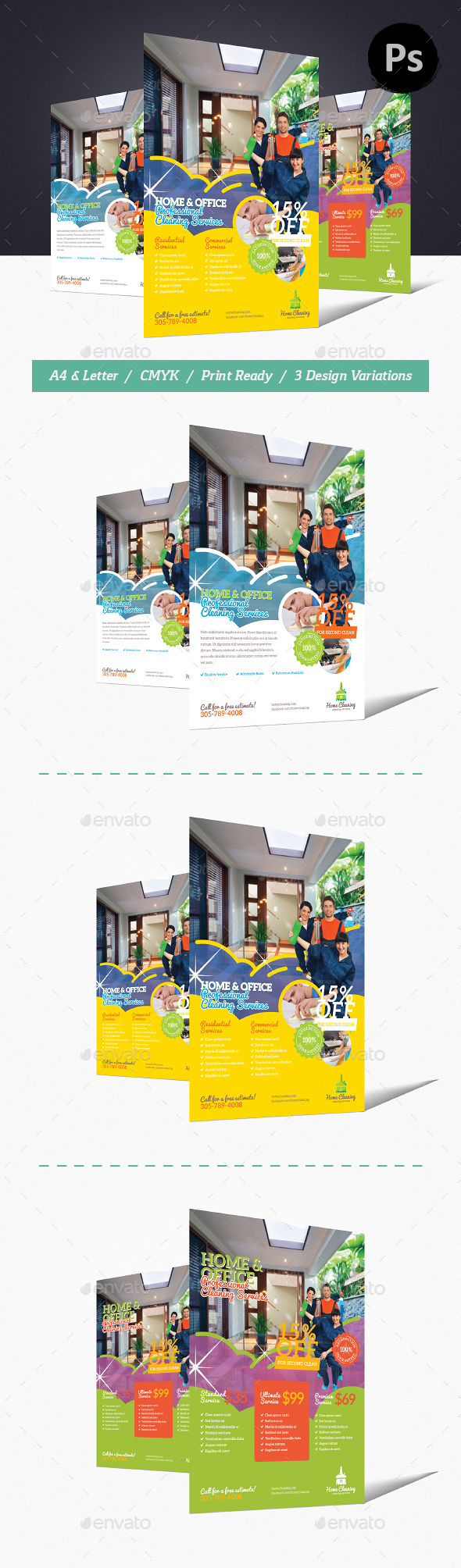 Home Cleaning Flyer - Commerce Flyers