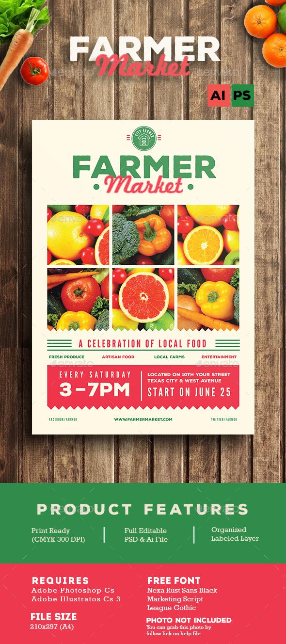 Farmer Market Flyer - Flyers Print Templates
