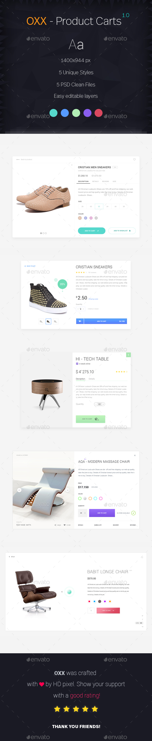 OXX - Shop Cards - User Interfaces Web Elements