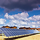 Solar Panels And Modern Village - VideoHive Item for Sale