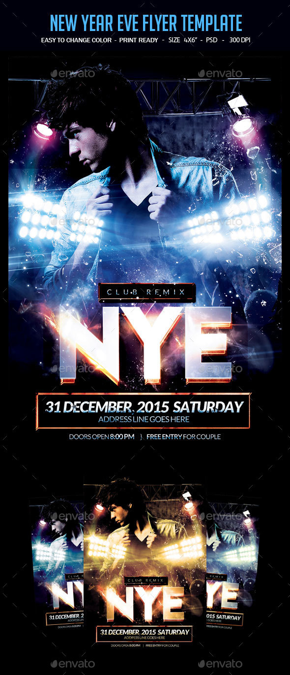New Year Eve Flyer Template - Clubs & Parties Events