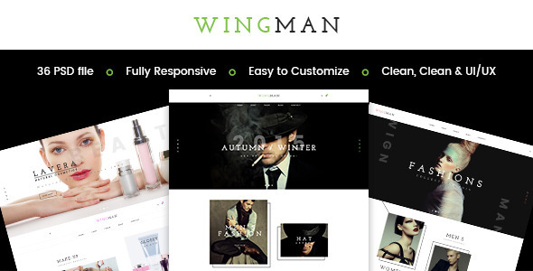 WINGMAN - E-Commerce and Blog PSD Theme - PSD Templates