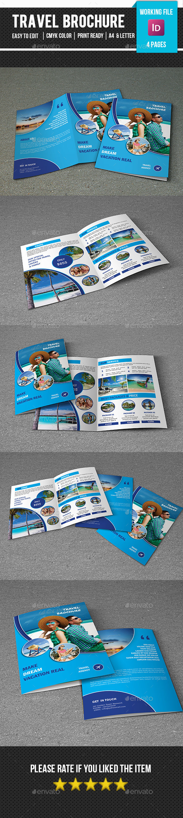 Travel Tour Brochure Template-V319 - Corporate Brochures