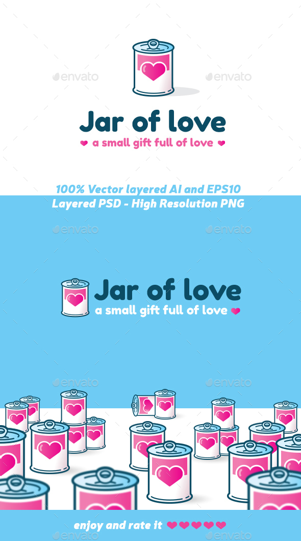 Jar of Love - Objects Logo Templates