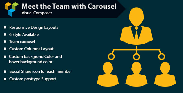 WPBakery Page Builder - Meet the Team with Carousel (formerly Visual Composer) - CodeCanyon Item for Sale