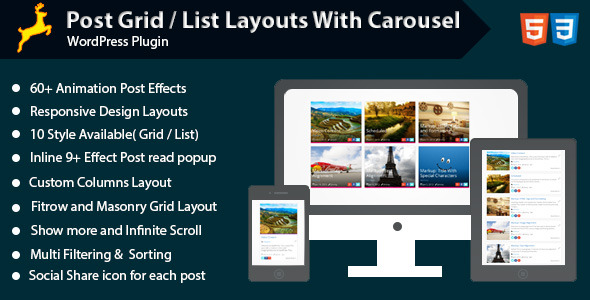 WordPress Post Grid/List Layout With Carousel - CodeCanyon Item for Sale