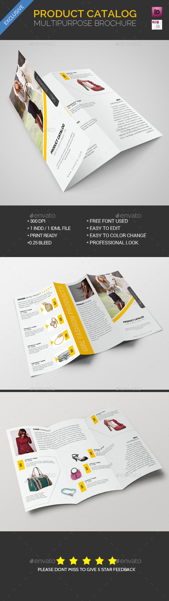 Product Catalog Trifold Brochure - Brochures Print Templates