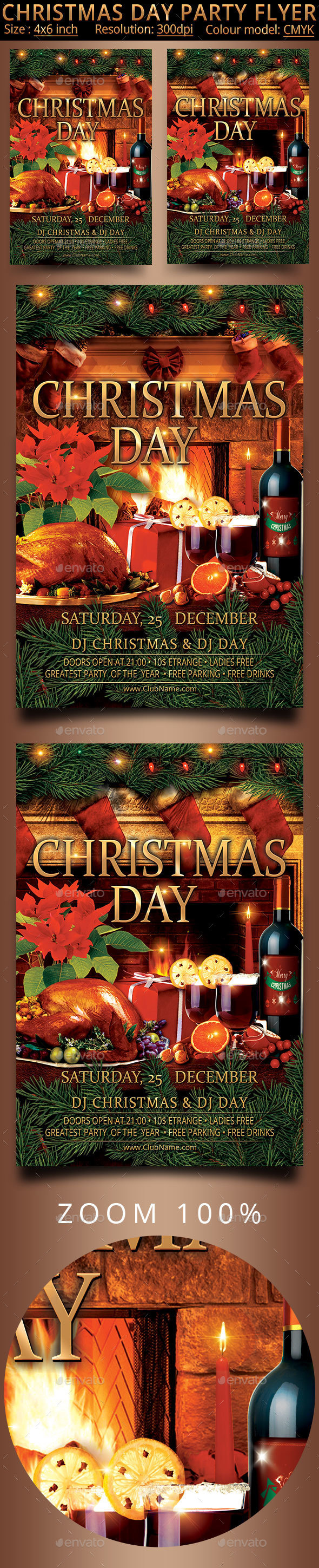 Christmas Day Party Flyer