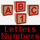 Baby Blocks Letters and Numbers - GraphicRiver Item for Sale
