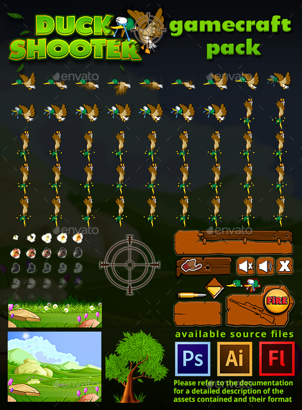 Duck Shooter Game Assets - Game Assets