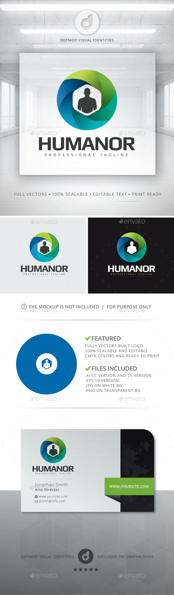Humanor Logo - Letters Logo Templates