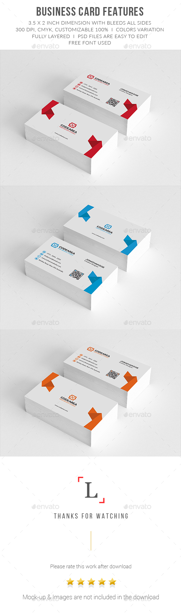 Clean Corporate Business Cards - Business Cards Print Templates