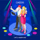 Team Party 03 People Isometric - GraphicRiver Item for Sale